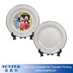 Sublimation-unbelegte Platten-Wärmeübertragung-keramische Platte mit Standplatz