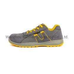 Lederne Arbeits-Sport-Sicherheits-Schuhe mit oberer Veloursleder-Leder und Ineinander greifen alleiniger PU