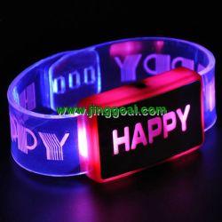 Promotion de l'anneau de poignet clignotement par LED