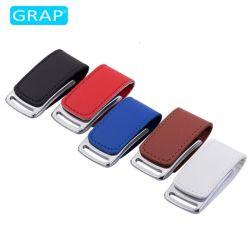 고급 자석 가죽 USB 4GB 16GB USB 플래시 드라이브