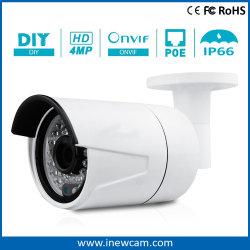 4 Megapixels de alta qualidade Poe CCTV Câmara IP com áudio