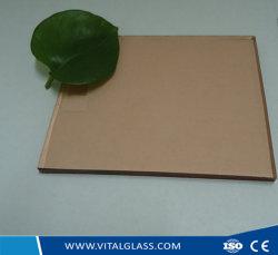 Farbige/abgetönte Floatglas-flache runde Süßwasser-Perlen-Raupen mit Kristallen mit Ce& ISO9001