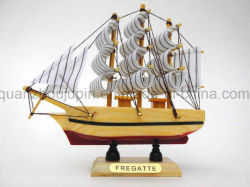 OEM decoración artesanal de madera Modelo de barco velero
