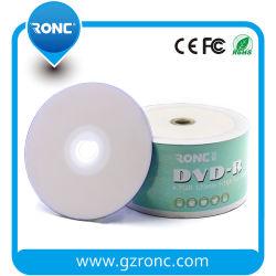 Inkjet em branco DVD-R Printable 16X 4.7GB de DVD