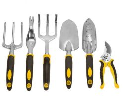 7pcs robuste en alliage en aluminium à usage intensif de jardin d'outils d'alimentation