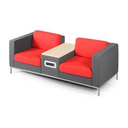 Ткань Low-Back совещание Бюро диван с гнездом в таблице .