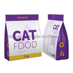 Zak van het Voedsel voor huisdieren van de Hoekplaat van de Bodem van de Druk van de douane de Plastic Vlakke Zij
