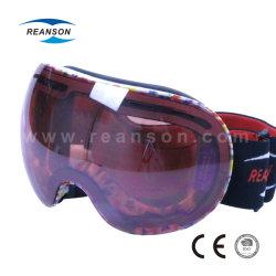 Tamanho grande profissional confortável óculos de neve