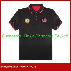 2017 Guangzhou 100% Overhemden van het Polo van de Katoenen Witte Mensen van de Douane Goedkope met het Embleem van het Borduurwerk (P170)