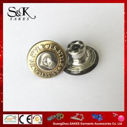 Высококачественные металлические кнопки хвостовика для внесения удобрений с кристально чистым камня в джинсах