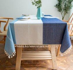 Tovaglia in lino di cotone a righe all'ingrosso rinfrescante Ins