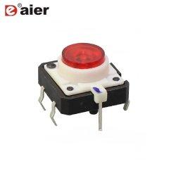 プラスチック表面の台紙は12X12mmを6つのPin LEDの気転スイッチ照らした