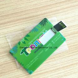 Förderung-Geschenk-fährt weißer Flipkarte USB-Blitz volles Firmenzeichen-Drucken der Speicher Pendrives Kreditkarte-4GB 8GB