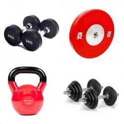 Kettlebells, Dumbbells, Barbells e concentrazione Commerical dei piatti del peso e strumentazione di forma fisica e di sport di ginnastica per addestramento e l'allenamento