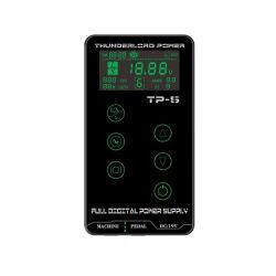 ترقية Thunderlord TP-5 مصدر طاقة وحدة التزويد بالطاقة شاشة لمس رقمية مزدوجة مصدر إمداد الطاقة لـ Tattoo Gun