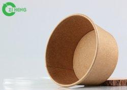 Одноразовые биоразлагаемых крафт-бумаги лапшу в чашу для риса PLA покрытие