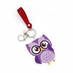 Commerce de gros jouet éducatif DIY Owl cadeau de promotion de l'acrylique de chaîne de clé