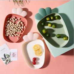 プラスチック軽食の版のコーヒーテーブルの朝食の版の軽食の版