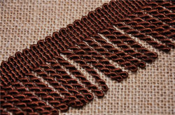 Commerce de gros plus de couleurs 6cm Bullion Tassel Fringe pour les textiles