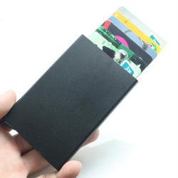 2018 Vente chaude de l'aluminium détenteur de carte de crédit de blocage de la RFID