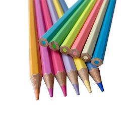 18 ans Nature d'usine de bois au crayon de couleur pastel 7 pouces avec boîte de couleur