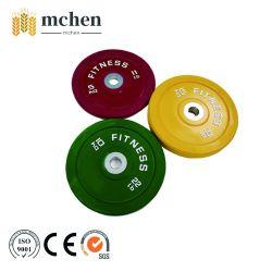 Barbell el levantamiento de pesas las placas de parachoques de goma