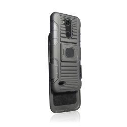 Caixa de combinação estojo para LG X Power 3 Tampa do Invólucro do robô com clipe para cinto