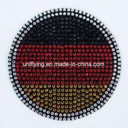 Alemanha Pavilhão Logotipo do vaso de cristal tecido autocolante Rhinestone Veludo