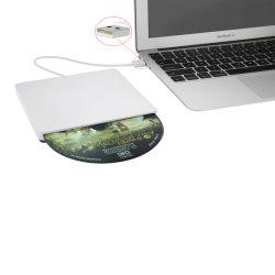 CD Laufwerk-Brenner-Spieler des USBexternal-DVD für Laptop/PC/Mac (Silber)