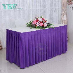 広州フォーシャンのカバーが付いている円卓会議のプラスチックテーブルクロスのためのカスタム宴会表のスカート