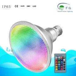 20W RGB LED PAR38 E27 de la luz de jardín al aire libre