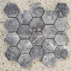 Piastrelle in marmo grigio Hexagon Mosaic per la casa cucina bagno