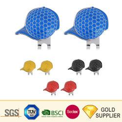 Logo personnalisé Gold silver métal de l'aimant vierge Golf encoche Outil de réparation de couleur argent clip encoche Ball Marker SET L'outil Outil Outil de la fourche de Golf de trousseau encoche Golf Hat Clip