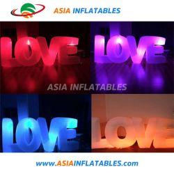 Décoration de lettres d'amour gonflable LED Modèle pour mariage