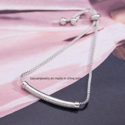 Réglable de la mode pour femmes CZ Bracelets de l'Engagement de la chaîne de diamants Bracelet de mariage