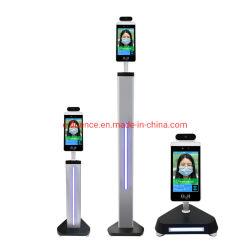 Sem Contato clássica e detectar a temperatura do termómetro de infravermelhos com reconhecimento de faces, sinalização digital e tela sensível ao toque opcional
