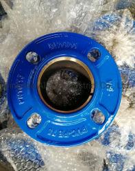 De kneedbare Duw van het Ijzer op Van een flens voorzien Adapter voor PE PVC/Hdpa Pijp