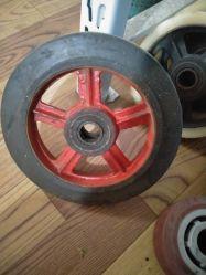 10 Polegadas Roda Universal roda sólidos de borracha de Ferro Fundido