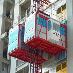 Doppia strumentazione di sollevamento della costruzione della costruzione di sicurezza della gru Sc200 della gru della gabbia alta
