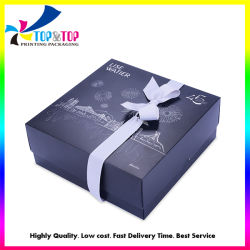 Bella y útil Regalo de caja de joyas de Papel Caja de papel con cinta
