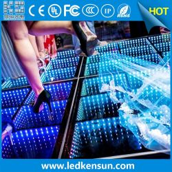 2020 DJ/partie/stage/Night Club Miroir Infini sans fil 3D de plancher de danse de LED