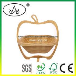 과일 저장 조직자 취사 도구 대나무 기술 전시 가정 선반을%s 목제 음식 바구니