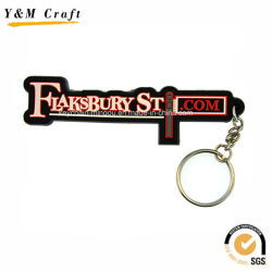販売Ym1125のための文字デザインシリコーンゴムのキーホルダー