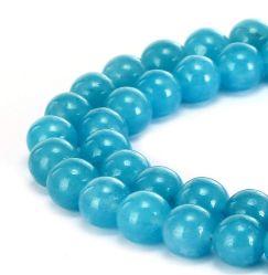Esponja Natural Blue Gemstone redondo liso cordones sueltos pueden hacer joyas pulseras y collares y una variedad de joyas de moda 4mm - 14mm