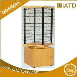 Pop up rotatorio de pantalla de cristal colgantes de madera Armario para juguete/Key/Adornos/Tarjeta de felicitación