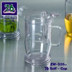76 Nouveau style de tasse de café thé en verre avec filtre Net Zw-520