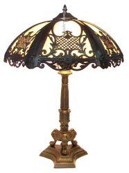 Античном стиле викторианской витражного стекла погнут Стол письменный стол из витражного стекла лампы декоративные лампы интерьер дома оформление