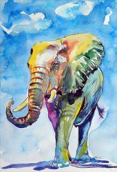 La pintura de diamantes de la impresión de la mariposa Elefante Yxpdx001