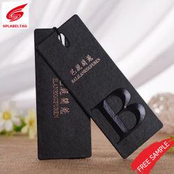 OEM Die Cut Label de vêtements et de pendre Tag pour cadeau de mariage à Guangzhou