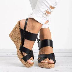 Wig Sandals Esg14048 van de Teen van de Riem van de Enkel van de Zomer van de Hielen van Strappy van de Vrouwen van het Platform van Sandals van de Gladiator van vrouwen de Hoge Vrouwelijke Open